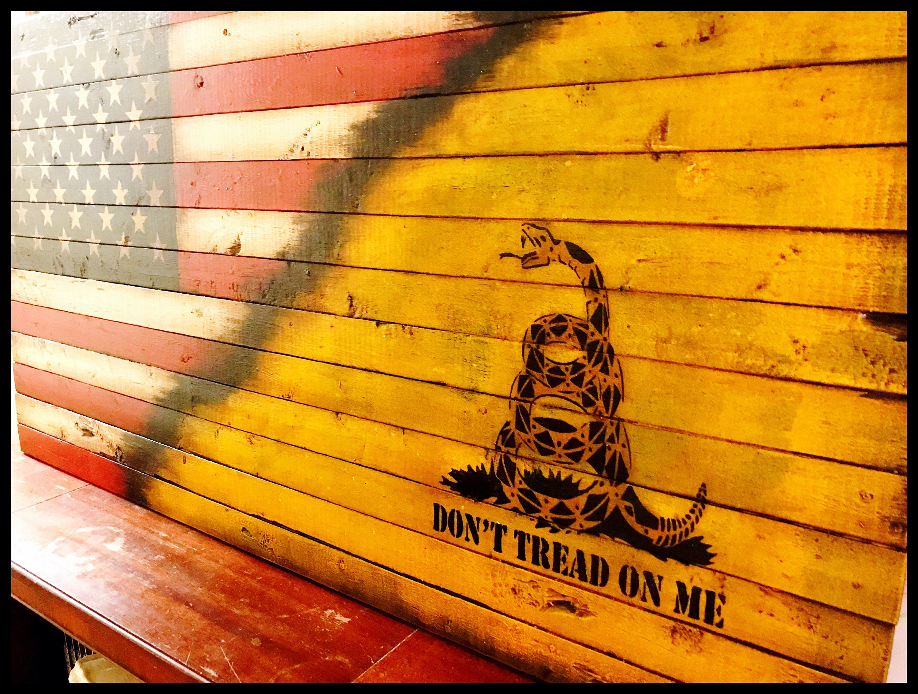 Dont Tread On Me, Gadsden Flag, American Revolution, Rustic American ...