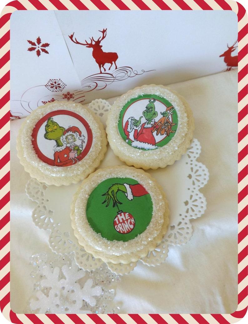 Grinch Christmas Cookies Custom Sugar Cookie Favors Foodie Gift