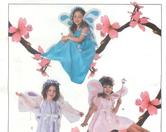 dresses in 2 lengths with sleeve variations and wings in Girls/' sizes Butterick 3897 UNCUT /& FF Fairy costumes pattern K2437 2003