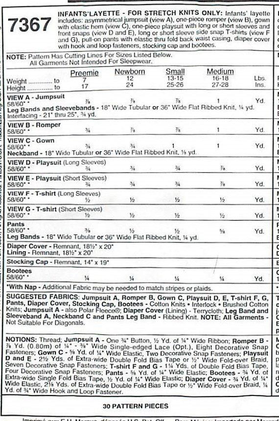 Größe für Stretch Knits nurMcCall 7367-Schnittmuster für