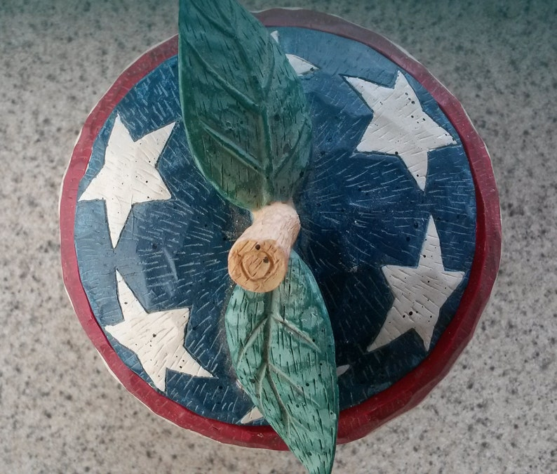 Vintage American Pie Covered Apple Dish by Beth Yarbrough