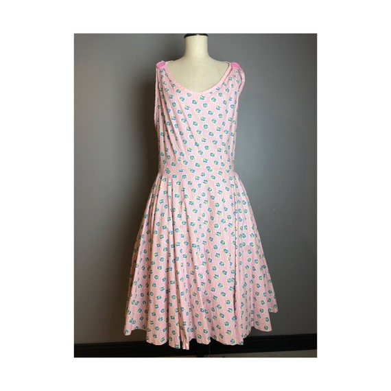 1950's Wrap Around Sundress, Large 50's Garden Dre