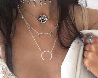 Boho Gypsy 3 tier Necklace