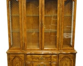 BERNHARDT HIBRITEN FURNITURE Country French Provincial 60 quot Buffet w. Lighted China Cabinet 11351 606-316 606-310