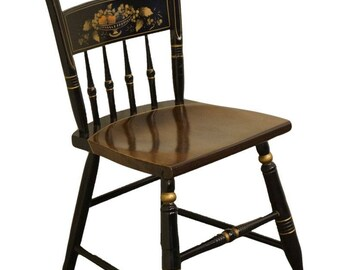 Attrayant S BENT U0026 BROS Gardener, MA Hitchcock Style Black Stenciled Colonial Side  Chair 291 0568