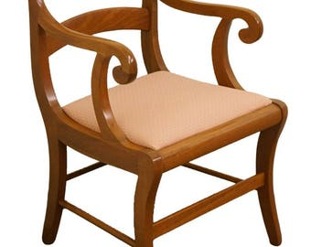 1960u0027s Duncan Phyfe Style Dining Arm Chair