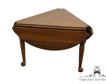 HARDEN FURNITURE Solid Cherry Drop Leaf Cloverleaf Side Table