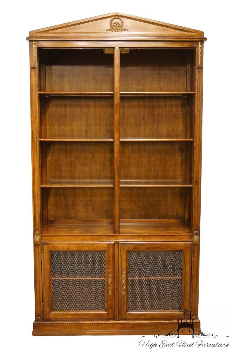 Davis Cabinet Solid Cherry 44 Bookshelf Bookcase Wall Unit With Calais Cherry Finish 7 154