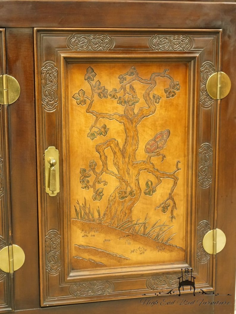 Magnificent Bernhardt Furniture Shibui Collection Asian Chinoiserie 76 Illuminated Display China Cabinet W Talisman Finish 744 120 Home Interior And Landscaping Ferensignezvosmurscom