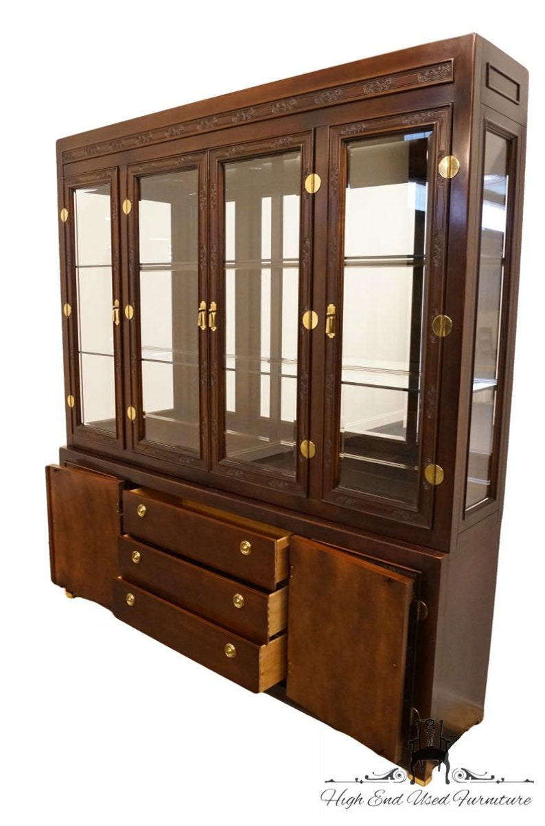 Tremendous Bernhardt Furniture Shibui Collection Asian Chinoiserie 76 Illuminated Display China Cabinet W Talisman Finish 744 120 Home Interior And Landscaping Ferensignezvosmurscom