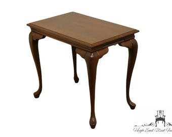 High End Solid Cherry Queen Anne Style Tea Table   Made In The USA
