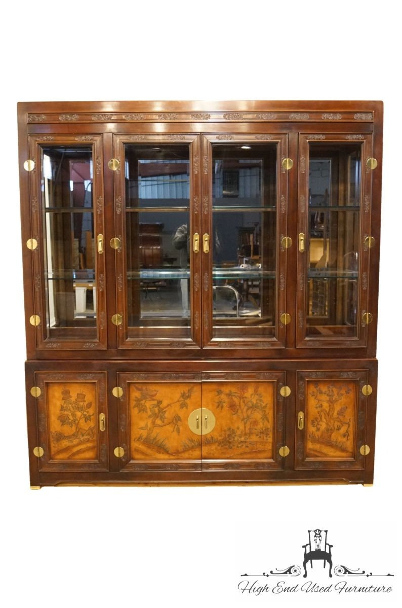 Superb Bernhardt Furniture Shibui Collection Asian Chinoiserie 76 Illuminated Display China Cabinet W Talisman Finish 744 120 Home Interior And Landscaping Ferensignezvosmurscom