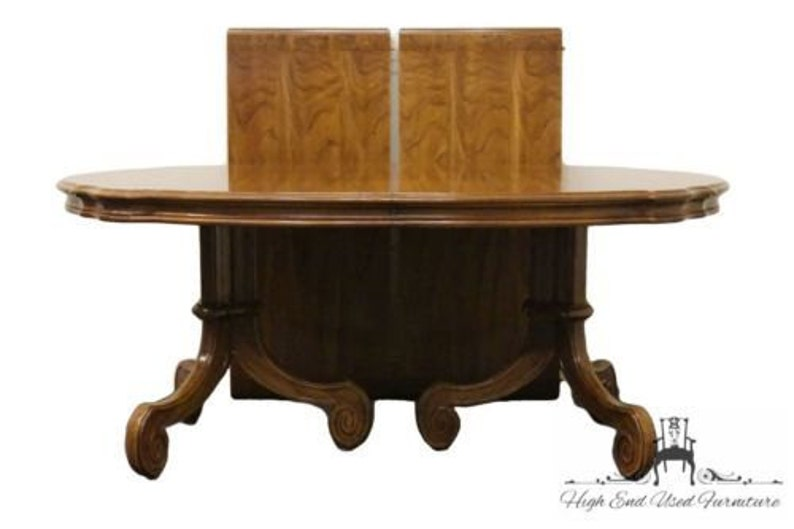THOMASVILLE Ceremony Collection Inlaid 110\u2033 Double Pedestal Dining Table 11921-772