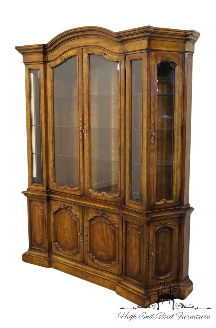 Drexel Heritage Grand Tour Iii 68 Lighted China Cabinet Etsy