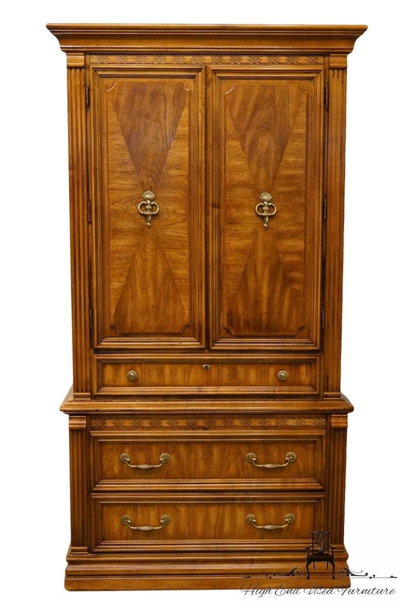 AMERICAN DREW Newport Villa Collection Italian Neoclassical Tuscan Style 41 Armoire  Door Chest 132-270
