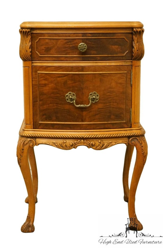 RWAY NORTHERN FURNITURE Louis XVI French Provincial Burled Walnut Twin Size...