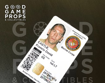 The Punisher (Netflix) | Frank Castle Military ID Badge Prop Replica | PVC
