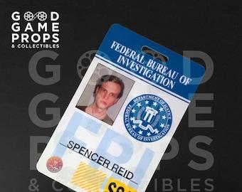 Criminal Minds   FBI ID Badge Prop Replica   PVC   100% Screen Accurate