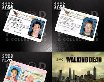 The Walking Dead   Daryl Dixon / Glenn Rhee / Shane Walsh Driver's License Prop Replica   PVC