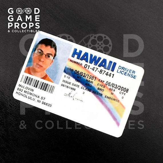 Mclovin fake Hawaiian Drivers License Sweatshirt