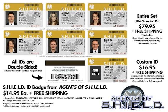 Agents of S.H.I.E.L.D. ID Badge Set, Individual OR Custom [PVC & Screen Accurate]