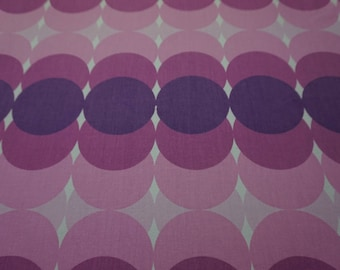 "Spaciger vintage fabric Panton cotton fabric 70s 70s purple purple 40 x 60 cm (15.7 x 23.6 "")"