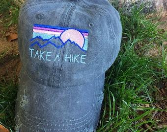 Take A Hike distressed hat 4132e6e937