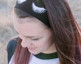 Eye Lashes fashion embroidered headband, lashes, eyelashes, fake lashes, false lashes, headband, yoga headband, boho headband, nonslip head