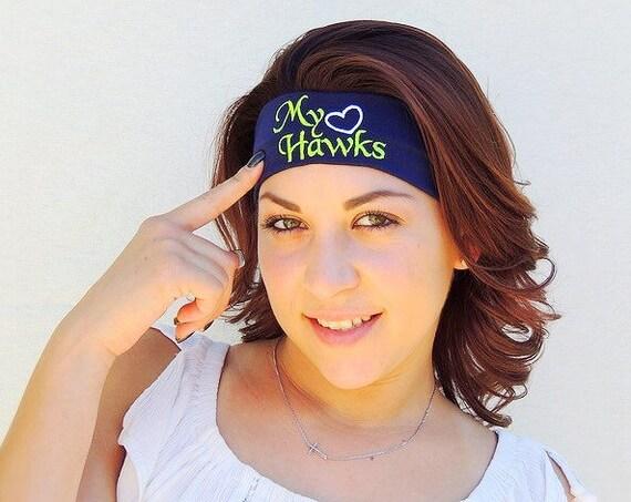 ear warmer Seattle Seahawk custom embroidered items! Seahawk headband
