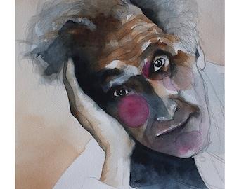 Portrait Marc Chagall Watercolour
