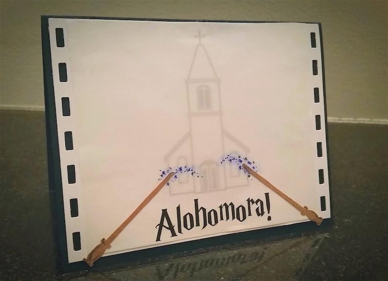 b7f86cbbf4ed Alohomora Harry Potter Wedding Card church marriage vow