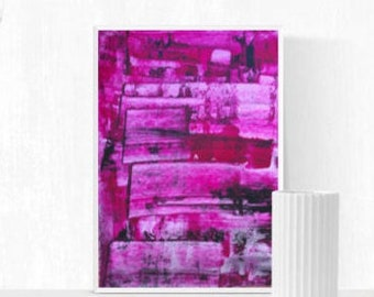 Abstract painting, pink, original painting, rosa, Wall Art, Bordeaux, abstract art