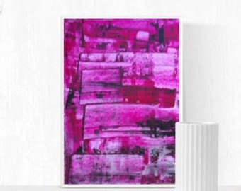 Abstract painting, pink, original painting, rosa, Wall Art, Bordeaux, abstract art