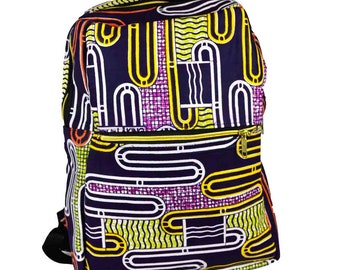 Beautiful African print fabric backpack