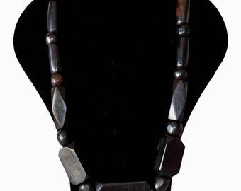ebony wood Bead Necklace