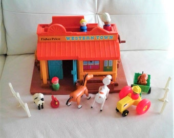 Fisher Price Little People Western Town Cowboy Indian Stage you Pick 1 Part 934