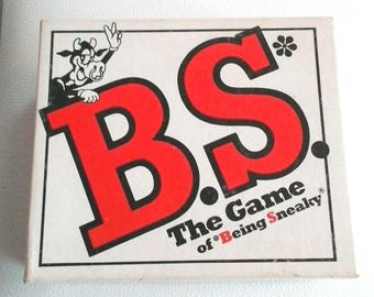 Vintage B.S. The Game of Being Sneaky, Family/Party Game, 1986 TDC Games