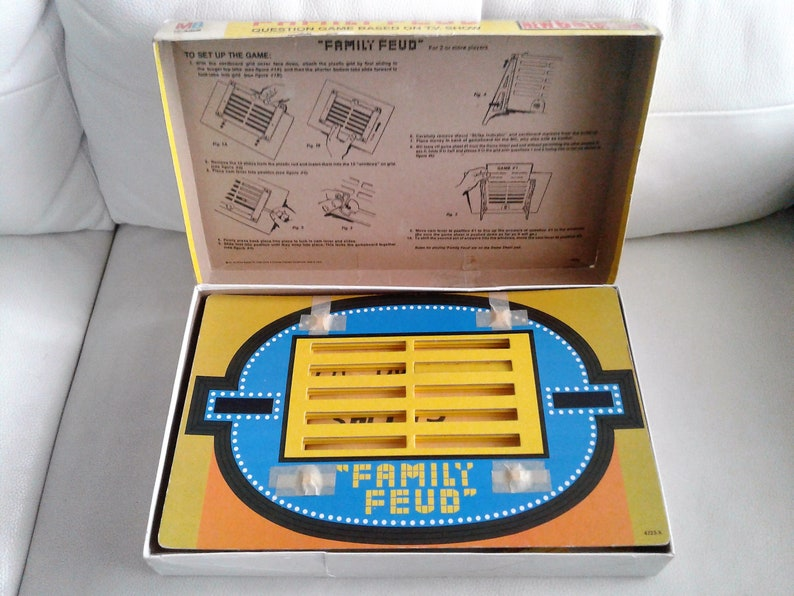 Vintage 1983 Family Feud 6th Edition Home Game By Milton Bradley Complete  Boardgame