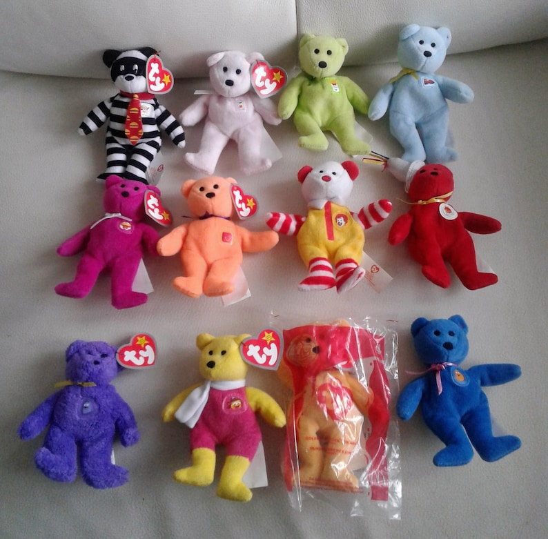 92059eae9f5 Vintage McDonalds Happy meal toys Ty Beanie Babies MIP