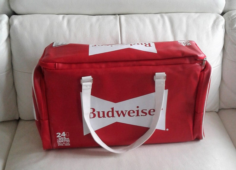 Rare Retro look Budweiser Sports Bag with handle cooler hand bag  Promotional Beer Item