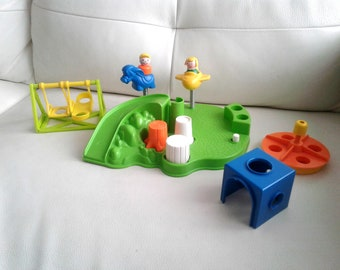 Vintage 1986 Fisher Price little people PLAYGROUND #2525 100% COMPLETE