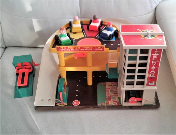 Vintage 1970 Fisher Price Little People No 930 Parking Etsy