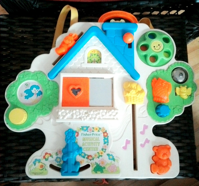 Vintage 1985 Fisher Price Busy Box Musical Activity Center Etsy