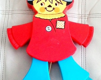 Vintage 1978 Fisher-Price Interactive Scarecrow Crib Toy 423 Quaker Oats