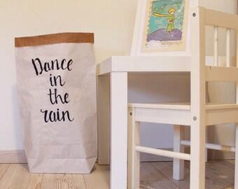 Sac de rangement papier Home Decor scandinave design noir et blanc, sac rangement papier sac de rangement pour enfant bin jouets sac intérieur de Nursery décor enfants