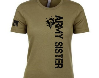 ab36d8e2 Army Sister super soft fitted crew and V neck t shirts