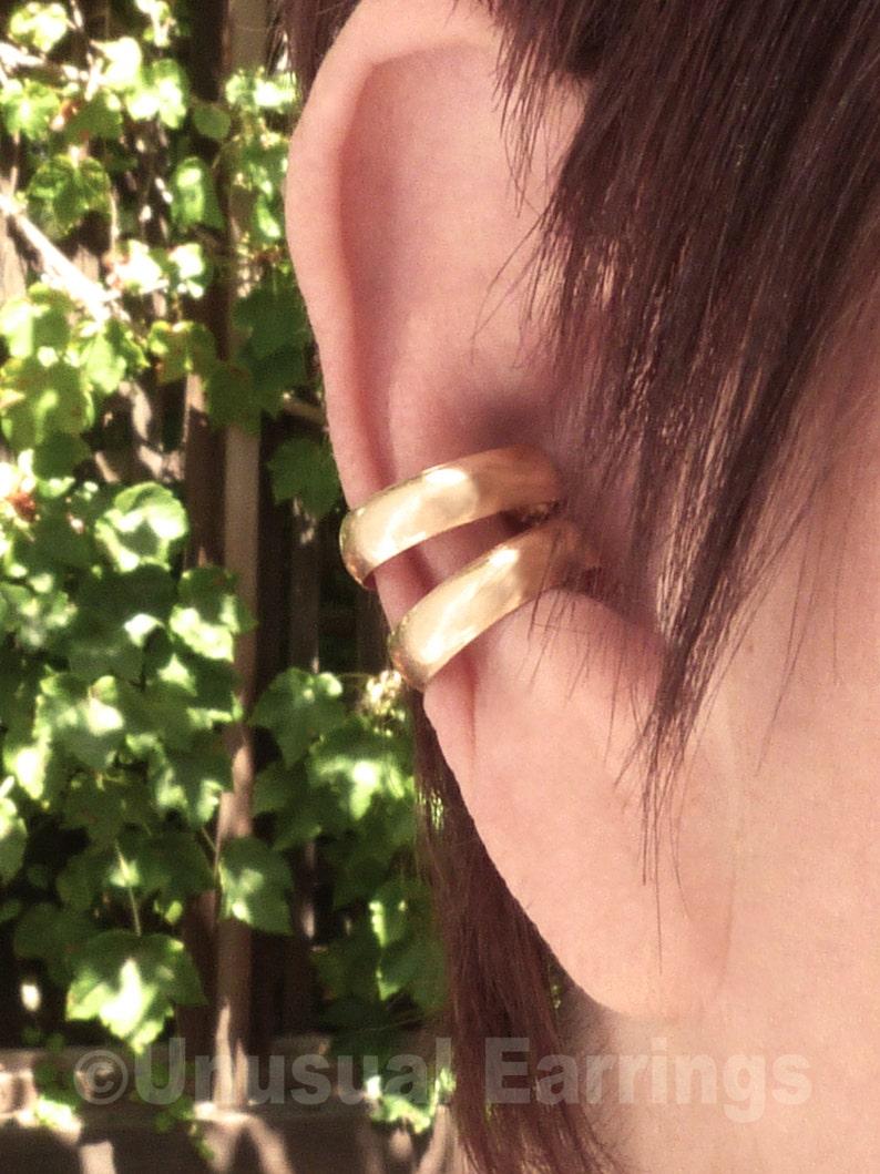 non-pierced earrings modern ear cuff minimalist earcuff Gold Filled unpierced earrings clip-on earring ear cuff ear wrap ear band