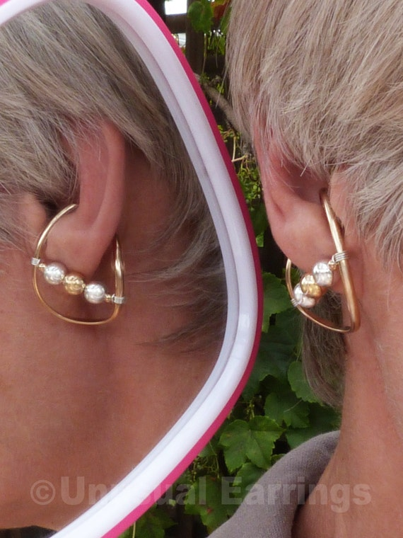 gold filled unpierced earrings non pierced ear cuff gold filled unpierced earrings non pierced earrings ear etsy 7408
