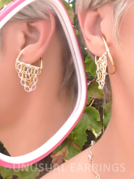 gold filled unpierced earrings non pierced ear cuff gold filled unpierced earrings non pierced earrings ear 9225