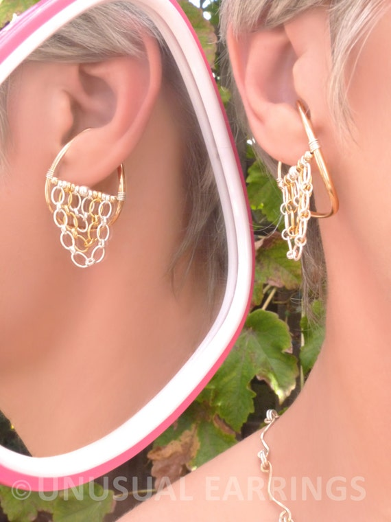gold filled unpierced earrings non pierced ear cuff gold filled unpierced earrings non pierced earrings ear 6458